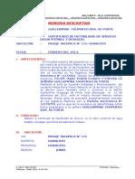 Memoria Descriptiva f.s. Sanitarias