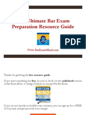 The Ultimate Bar Exam Preparation Resource Guide | Test