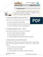 Tarefa 2 Formula Resolvente