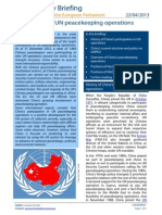 China Role in UN Peacekeeping Operations