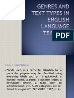 Genres and Text Types in English Language Teaching
