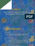 TEMA 5.Las Constantes Lingüísticas