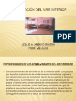 CONTAMINACIÓN DEL AIRE INTERIOR (Leslie Andino)