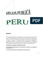 Deuda Publica Del Peru