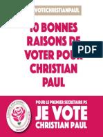 10 raisons de voter Christian PAUL