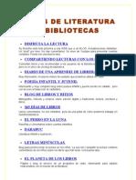 Blogs de Literatura y Bibliotecas