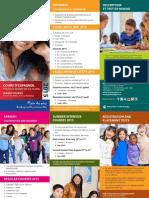 Dépliant cours d'espagnol pour les jeunes de 9 à 16 ans (2015)