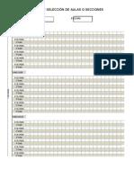 Ficha de Seleccion de Aulas o Secciones