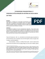 RECUPERANDO HISTORIADORES FRAGMENTÁRIOS