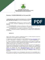 Portaria PROGESP - Incentivo à Qualificação
