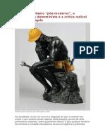 """Sobre o idealismo """"pós-moderno"""", o materialismo determinista e a crítica radical de Marx e Engels (Glailson dos Santos, de Ananindeua (PA) - PSTU)"""