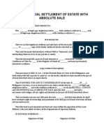 Extrajudicial Settlement of Estate With Absolute Sale