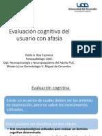 Evaluacion Cognitiva en Afasia