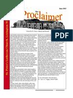 June 2015 Proclaimer