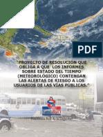 Proyecto de Resolución Legislativa Seguridad vial - Meteorología