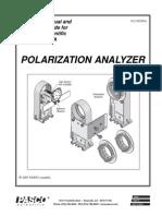 Polarization Analyzer Basic Optics Manual OS 8533A