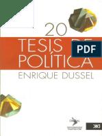 20 Tesis de Política Enrique Dussel