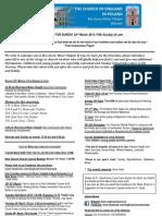 Warsaw News Sheet and Readings 31st May 2015