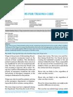 Triage Systems for Trauma Care
