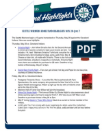 Mariners Homestand Highlights 5-28 6-7