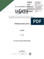 Ley de GarantíasMobiliarias 9246