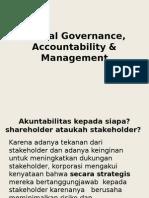 Ethical Governance, Accountability & Management