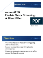 Electric Shock Drowning - A Silent Killer