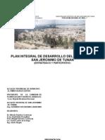 Plan Integral de Desarrollo San Jeronimo de Tunan