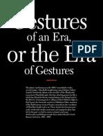 Kovalev Andrey 2007 Gestures of an Era or the Era of Gestures