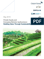 Private Equity and Emerging Markets Agribusiness