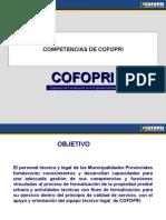 COMPETENCIAS DE COFOPRI ÁMBITO URBANO