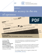 Government Secrecy in the Era of Openness