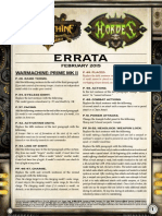 WM MKII Rules Errata July 2014
