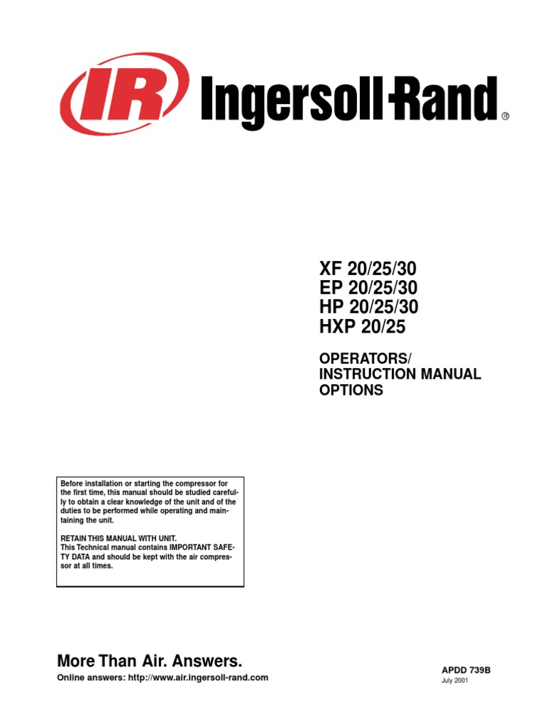 Ingersoll rand ssr ep20 air compressor manual indemnity negligence sciox Gallery