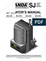 Landa SJ100A Parts Washer Manual