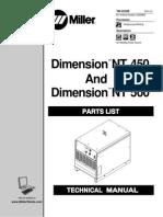 Miller Dimension NT 450 Parts Manual