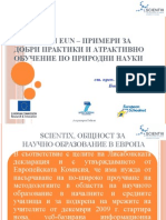SCIENTIX and EUN - Examples of Good Practices and Attractive STEM Education