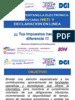 USO DE LA VET Y DECLARACION EN LINEA 2014 - 57p.pdf