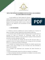 EDITAL 1º Processo Seletivo - LACMe