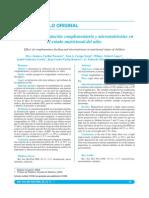Efecto de La Alimentación Complementaria y Micronutrientes En
