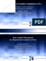 Kase Capital Lumber Liquidators Litigation Conference 5-27-15