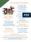 Summer Calendar of Events for Children