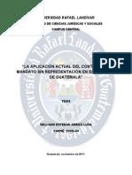 Analisi Juridico Del Mandato U Rafael Landivar