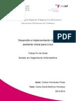 FERNÁNDEZ - Desarrollo e Implementación de Un Asistente Virtual