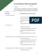Cuestionario de Somnolencia Diurna de Epworth