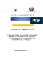 Cdcpp 048 - Adquisicion de Repuestos Para El Sistema Aislado Cobija