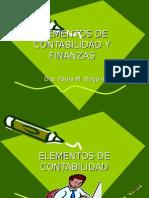 Elementos de Contabilidad y Finanzas