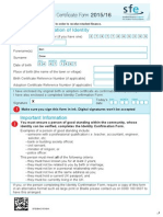 SFE Birth Adoption Certficate Form 1516 DD