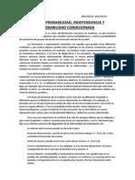 Tema 5. Probabilidad, Independencia y Probabilidad Condicionada (16, 18, 23 y 25-02-2015)