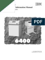 ibm 6400 maintenance manual parts service manual printer rh scribd com IBM Impact Printers for Adhesive Labels IBM Ink Jet Printer